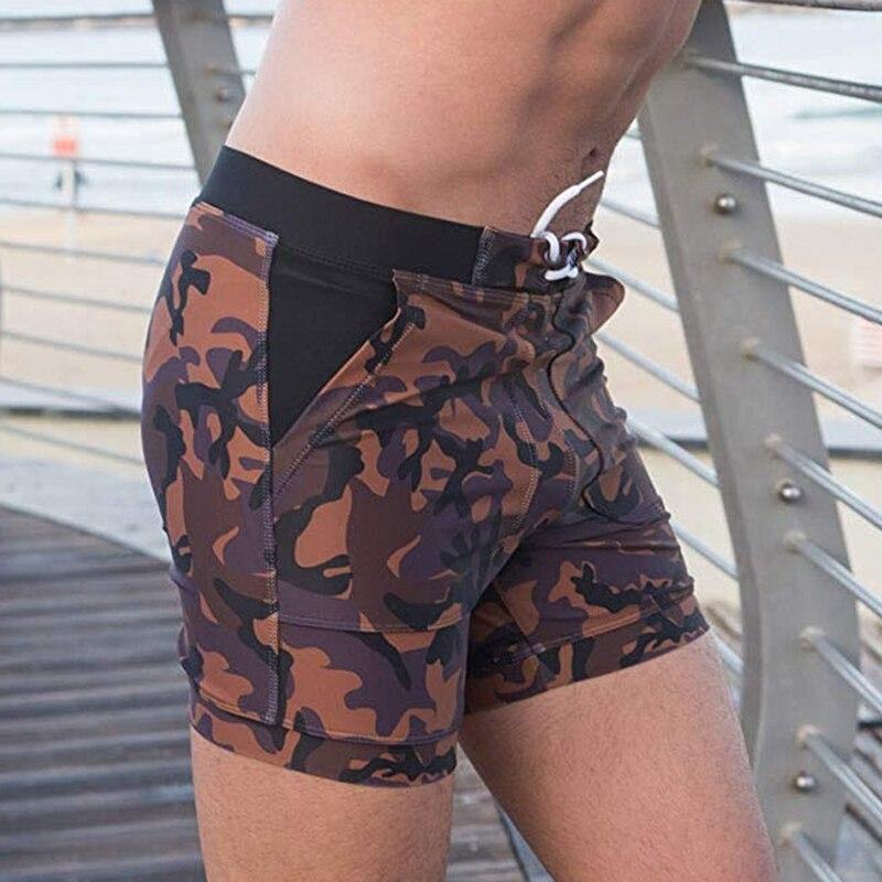 Men New Camo   Board     Shorts   Elastic Waist Pockets Swimwear Sportwear Beach Wear Casual   Shorts   Holiday Male Summer Sea Side   Shorts