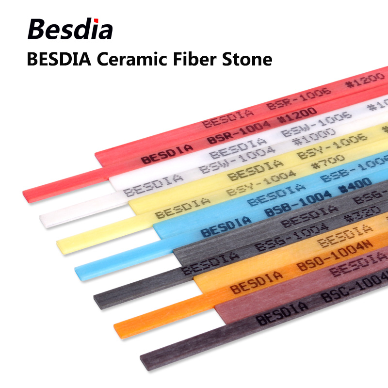 5pcs Taiwan Besdia Ceramic Fiber Stones Oilstone Made In Japan 1004 1006 1010 Cylindrical Oilstone 3.0*100