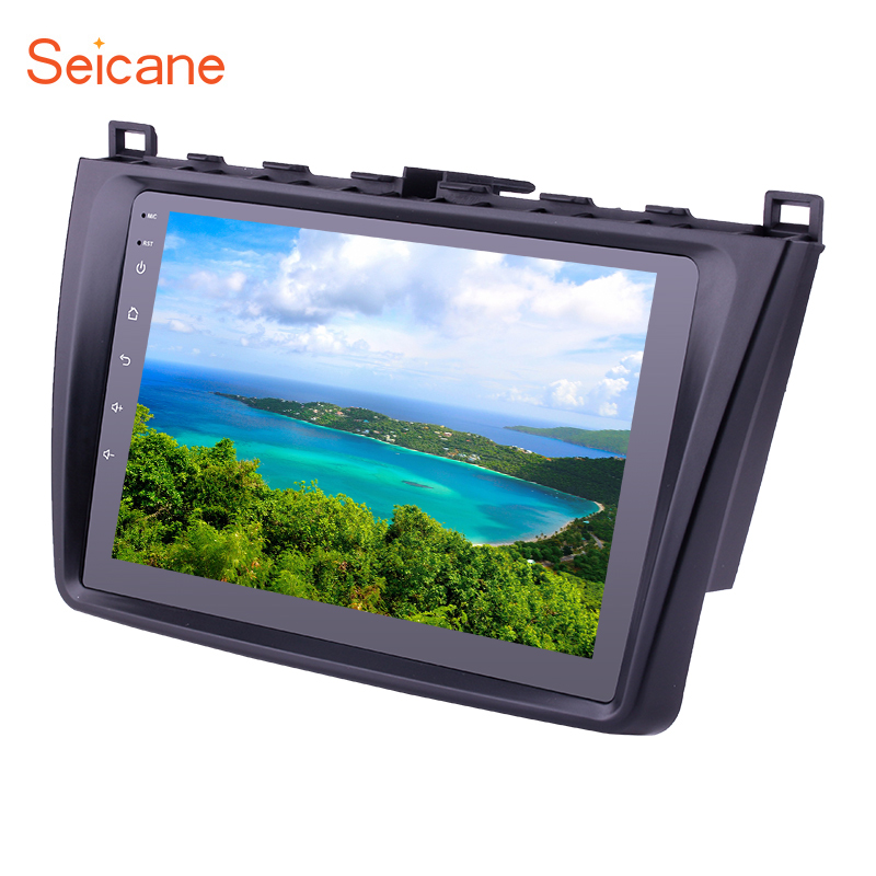 Seicane Android 8.1 2DIN 9 Inch Car Radio With Bluetooth <font><b>GPS</b></font> Navigation FM WIFI For 2008 2009 2010 2011-2015 <font><b>Mazda</b></font> <font><b>6</b></font> Rui wing image