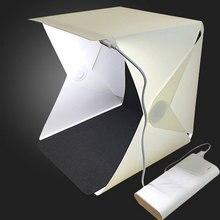 Складной мини-Фотостудия софтбокс светильник-бокс фото камера фото фон светильник коробка 2 панели светодиодный светильник ing палатка комплект