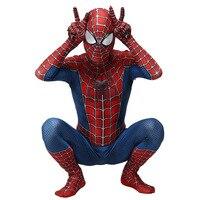 2019 New Spiderman Costume 3D Printed Kids Adult Polyester Fiber (Polyester)Spider man Costume For Halloween Mascot Cosplay