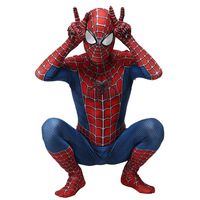 2019 New Spiderman Costume 3D Printed Kids Adult Polyester Fiber (Polyester)Spider man Costume For Halloween Mascot Cosplay