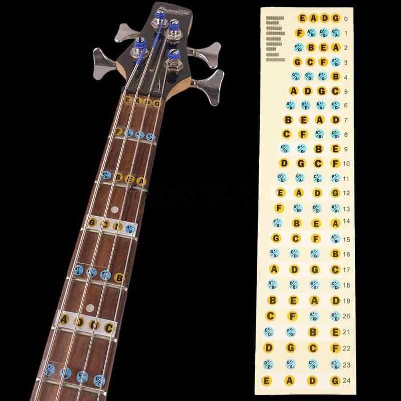 2 יח'\אריזה גיטרה בס גיטרה חלק אביזרי Fretboard חיף הערה תווית לדאוג מדבקות שחיף הערה תווית לדאוג