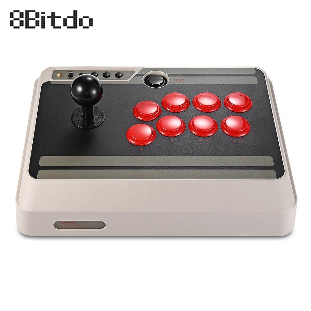 8 8bitdo NES30 Personnalisable Bluetooth Arcade Stick Gamepad Usb PS4 Contrôleur avec Turbo pour Nintendo Commutateur PC Mac Android