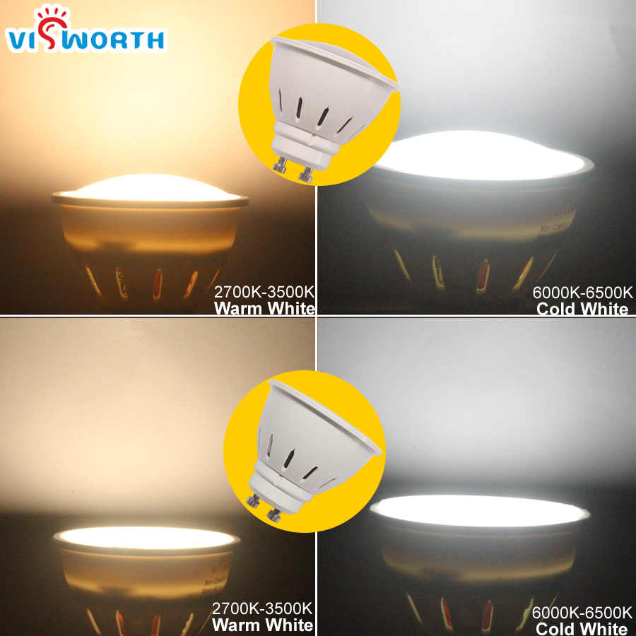 [VisWorth] 2 Вт 3 Вт 5 Вт Светодиодный прожектор Gu10 SMD2835 9 Вт 12 Вт 15 Вт Cob Светодиодный фонарь 110 V 220 V 240 V матовая Лампа Теплый Холодный белый лампочка