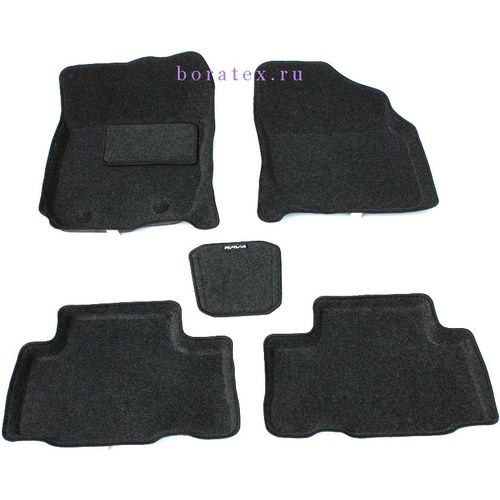3D carpet BORATEX BRTX-1015 for Toyota RAV 4 06 2006-2012 dark gray цена