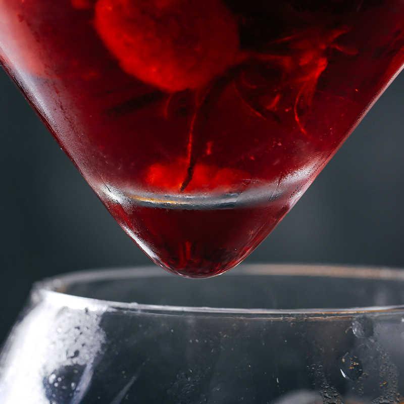 מולקולרי ערבובולוגיה Interlayer משולש קוקטייל אייס קריסטל יין זכוכית קונוס מרטיני כדורי סט הברמן מיוחד שתיית כוס