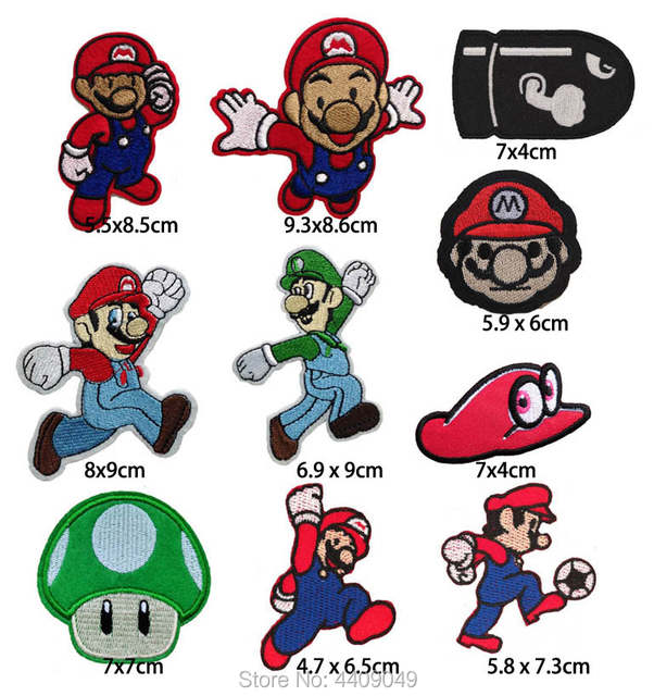 Super Mario Game Character Embroidered Iron On Patch Luigi