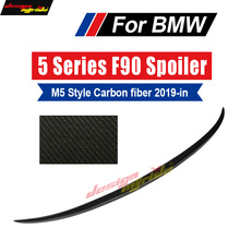 M5 F90 Spoiler Rear Trunk Wing tail AEM5-Style Carbon fiber For Lid Tail Auto Car Styling 2019-in