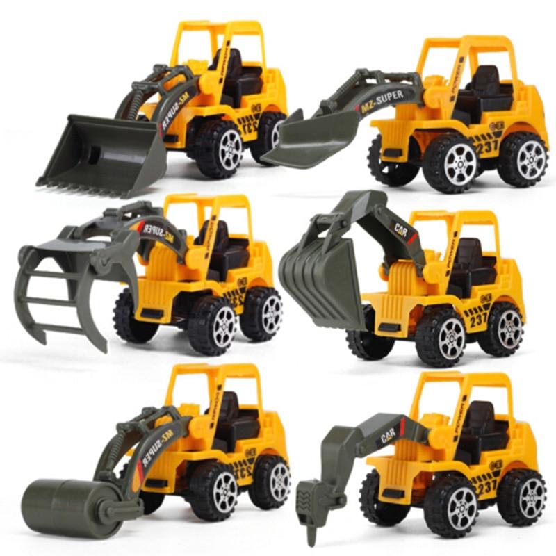 6 pcs/Set Kid Vehicle Truck Model Engineering Diecast Construction vehicle models Toy