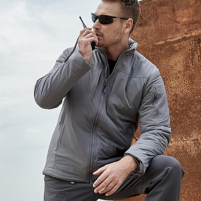 Winter Ultralight Men Tactical Military Cotton Coat Outdoor Bomber Windproof Waterproof Cold-proof Wear-resistant Loose Jacket