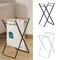 AUGKUN Nordic Folding Iron Garbage Rack Kitchen Living Room Hangers Multi functional Storage Holder with Hooks