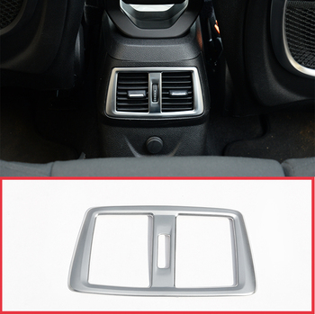 For BMW 218i Gran Tourer F46 2015-2017 Car Accessories ABS Chrome Rear Air Conditioning Outlet Frame Cover Trim 1 Pcs image