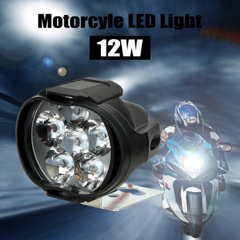 1 Pair Motorcycles Headlight 6500k White Super Bright 6 LED Working Spot Light Motorbike Fog Lamp 1200LM LED Scooters Spotlight 1