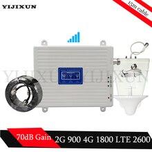 2 г 3g 4 г трехдиапазонный усилитель сигнала 900/2600/1800 МГц GSM DCS LTE 900 МГц 1800 МГц 2600 МГц 4 г мобильный телефон сотовый сигнал повторитель