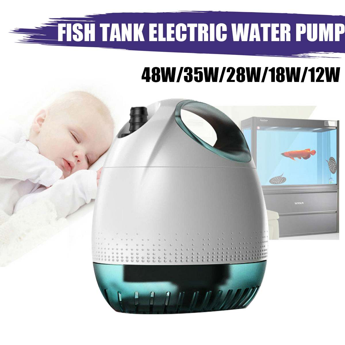 48W 2500H/L Water Pump Waterproof Submersible Ultra-quiet Bottom Suction Pump Fish Tank Aquarium Pond Fountain Feature Pump48W 2500H/L Water Pump Waterproof Submersible Ultra-quiet Bottom Suction Pump Fish Tank Aquarium Pond Fountain Feature Pump