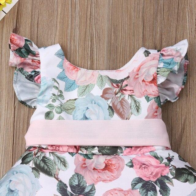 Księżniczka maluch noworodek dziewczynek sukienka kwiat koronkowa Tutu wesele sukienka urodzinowa dla dziewczynek letnie ubranie dla dziewczynki