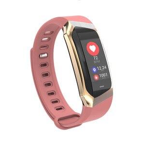 Image 3 - E18 Smart Handgelenk Band Herz Rate Blutdruck Monitor Sport Armband Fitness Uhr Intelligente Für iOS Android Männer Frauen