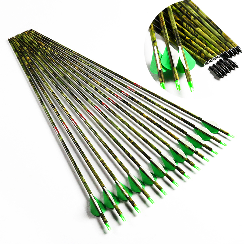 29/'/'//30/'/'//31/'/' wooden skin pure carbon arrows SP340//400//500 compound//recurve bow
