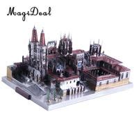 229 Pieces 3D Metal Art Sculpture Model Assembly Kits Burgos Cathedral