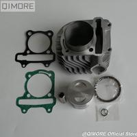 GY6 200 63mm 2V big bore cylinder piston Set for Scooter Moped ATV QUAD 152QMI 157QMJ 1P57QMJ GY6 125 GY6 150