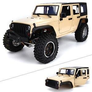 Image 3 - Demonte 12.3 inç 313mm dingil mesafesi vücut araba kabuk için 1/10 RC paletli jeep Cherokee wrangler eksenel SCX10 ve SCX10 II 90046 90047
