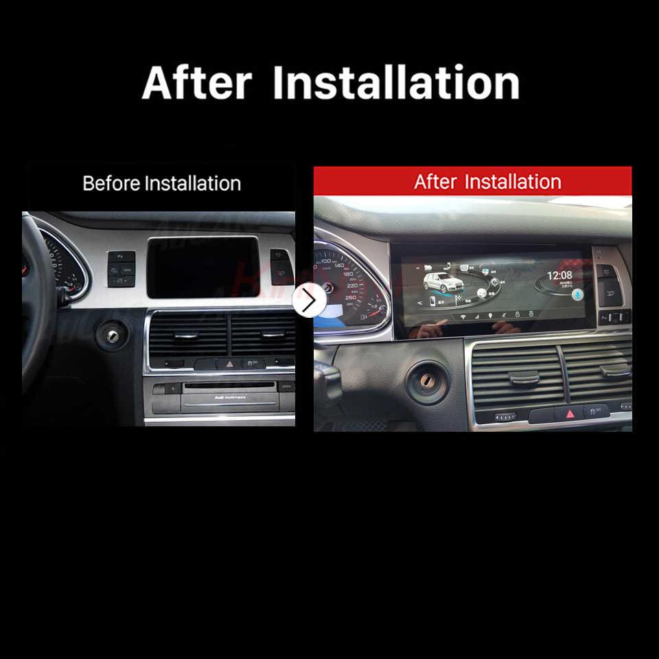 "KiriNavi アンドロイド 7.1 オクタコア 10.25 ""カーマルチメディアアウディ A6L 車の DVD プレーヤーの Bluetooth GPS ラジオステレオ WIFI 4 グラム 2005-2016"
