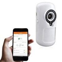 EU Plug WiFi Burglar Alarm Monitor PIR Smart Sensor Motion Detection Linkage Alarm Video Camera APP Control for Smart Home