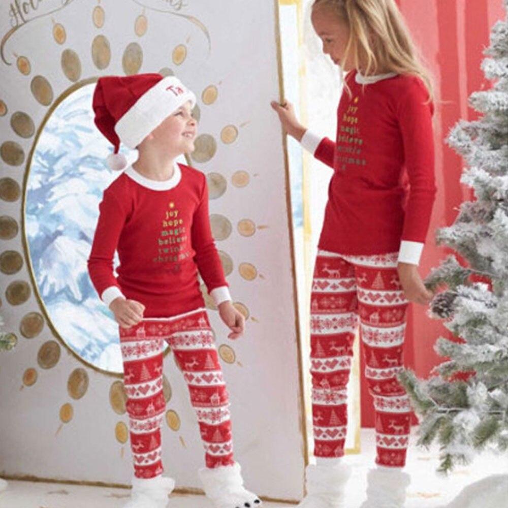 Brand New Baby Girls Boys Reindeer and Snowflake Pajamas Sets Kids Cotton Sleepwear Christmas Pajama for Girls Boys Pijamas Nigh