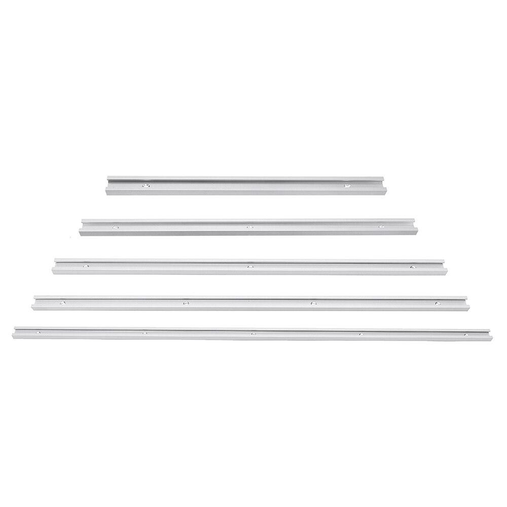 300-1220mm t-track t-slot Miter track Jig T tornillo fijación ranura 19x9,5mm para sierra de mesa enrutador tabla herramienta de carpintería Tren de la ciudad vía de reactivación eléctrica Función de ferrocarril creador técnico Motor bloques de construcción ladrillos legoinglys juguetes para niños