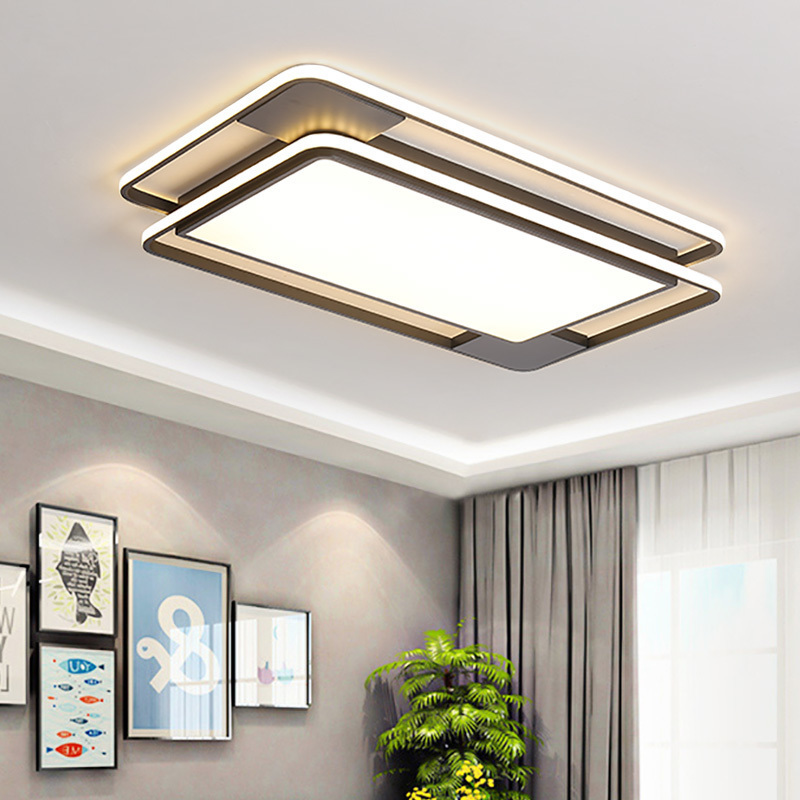 Black Modern Led Ceiling Lights Iron Surface Mounted Ceiling Lamp For Living Room Dining Room Lamparas De Techo Avize Led LampBlack Modern Led Ceiling Lights Iron Surface Mounted Ceiling Lamp For Living Room Dining Room Lamparas De Techo Avize Led Lamp