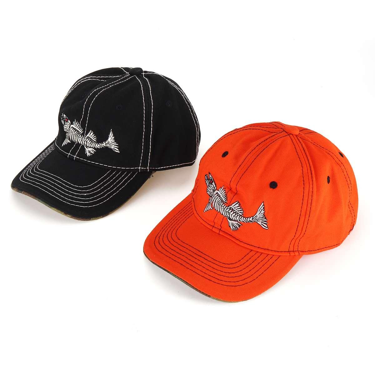 Black / Orange Color Mens Hat Embroidery Fish Unisex Women Men Hats   Baseball     Cap   Snapback Casual   Caps