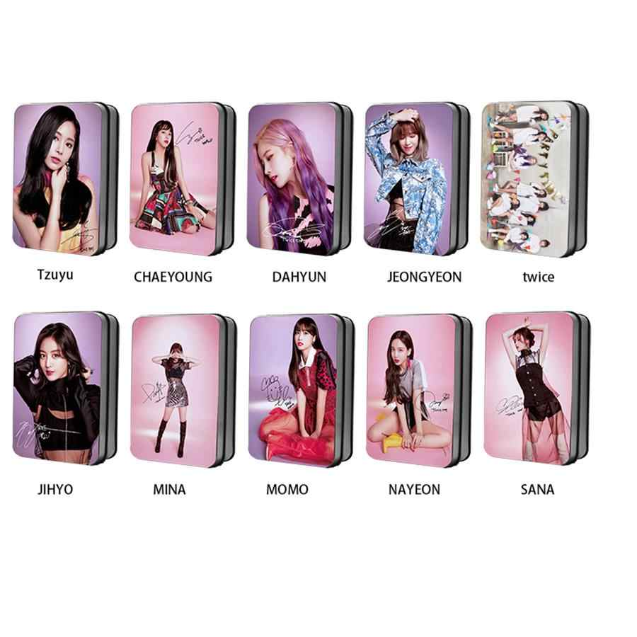 Kpop Twice Members Polaroid Lomo Photo Cards Momo Sana Yes or Yes HD  Photocard Cards with Metal Box 30pcs