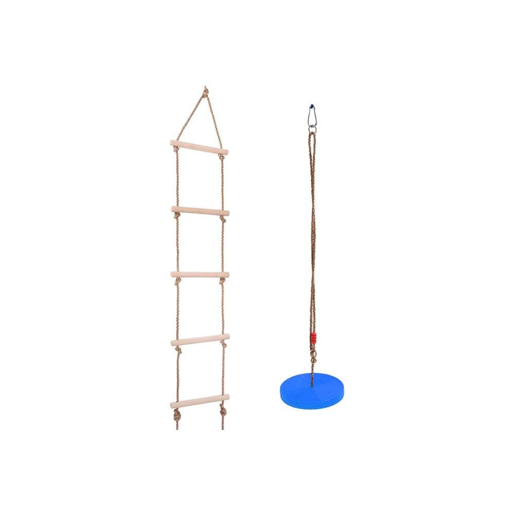 2 pièces ensemble 120 kg escalade échelle/corde échelle + balançoire disque siège aire de jeux activité intérieur extérieur jeu pour enfants enfant