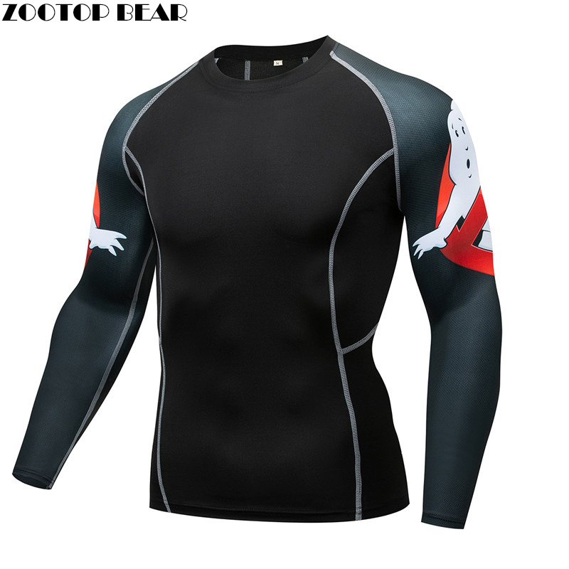 Mma Compression Tee Rashguard Men Not Obese Male Shirt Quick Dry Breathable Elastic Tight Weight Lifting Crossfit Top Fitness
