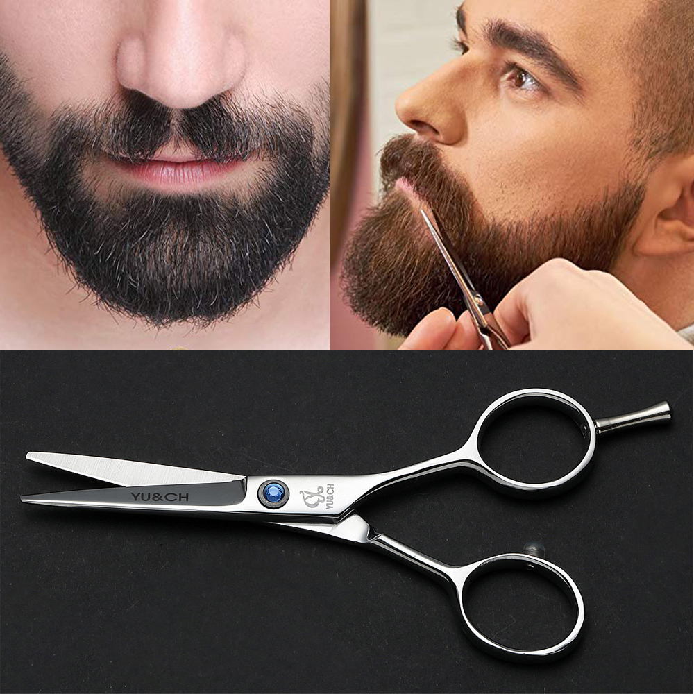 High Quality Beard Scissor Stainless Steel Sliver Mini Size Home Styling Eyebrow Scissor Mustache Shaving Tools For Hairdresser