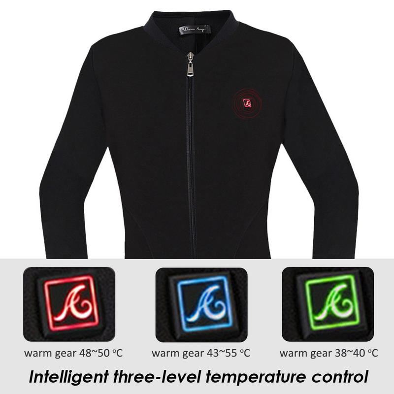 Femme en plein air chauffage chemise costume électrique sous-vêtement thermique Plus velours veste chemise Touring sport tissu cadeau pour femme hiver