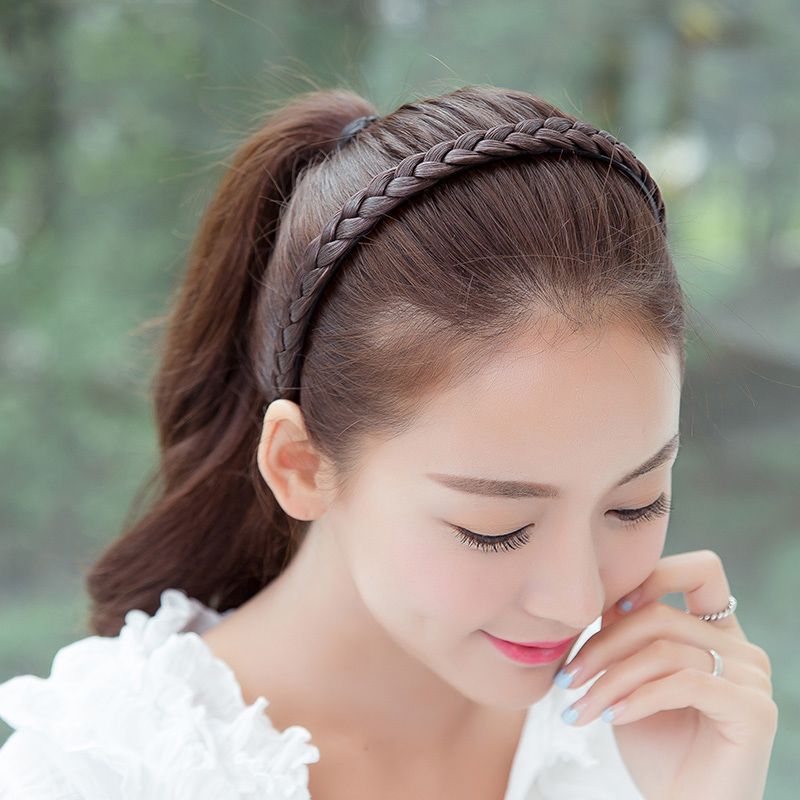 New 1PC Girls Creative Braids Hairbands   Headwear   Hairpiece Hair Wig Accessories Women Headband Hair Accessories