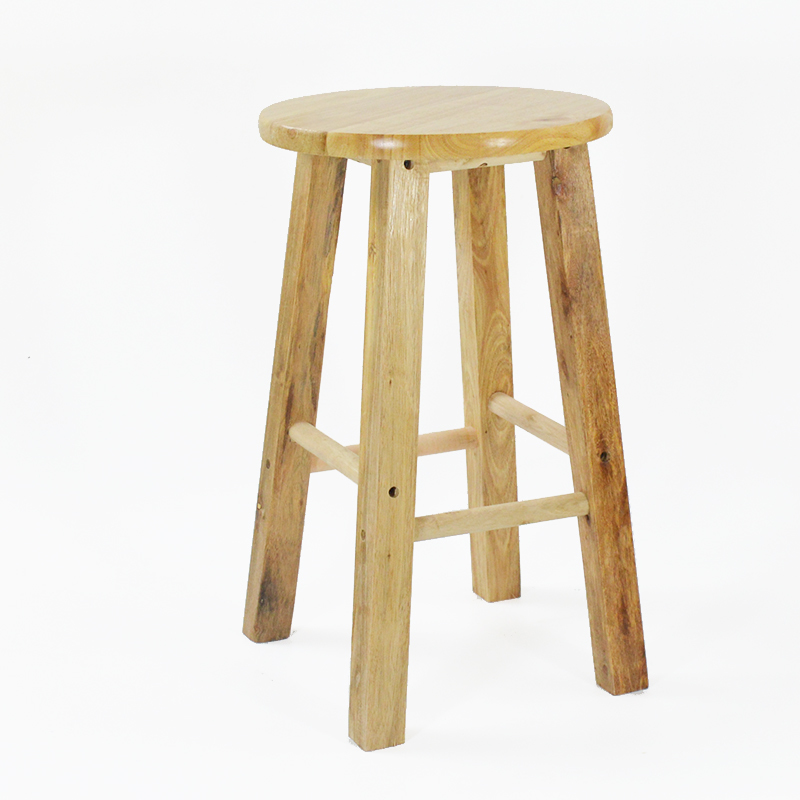 Excellent Us 118 09 33 Off Simple Style Wooden Bar Chair Commercial Dining Stool Multifunction High Round Stool Reinforce Step Stool Retro Dressing Seat In Andrewgaddart Wooden Chair Designs For Living Room Andrewgaddartcom