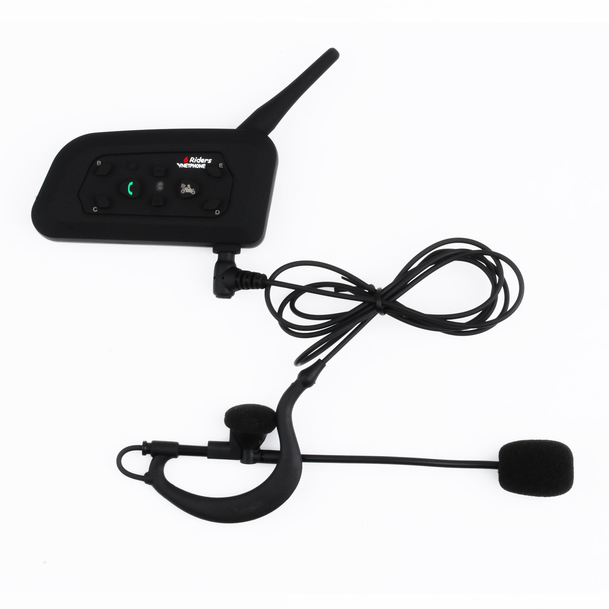 VNETPHONE Football arbitre oreille unique écouteurs Bluetooth casque 1200 M talkie-walkie V6C