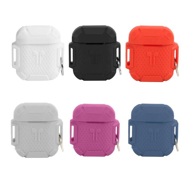 Cover In Silicone Di Sport All'aria Aperta Wristband Di Caso Di Immagazzinaggio Box Bianco/nero/rosso/grigio/viola/blu Scuro Per Apple Airpods