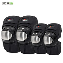 WOSAWE Sports Knee Pads Stainless Steel Elbow Leg Protective Gear Suit Cycling Snowboard Motorcycle Joint Support Protector