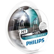 Автолампа Philips X-TREME VISION H1, 55, P14.5s+100%, 12V (12258XVS2)
