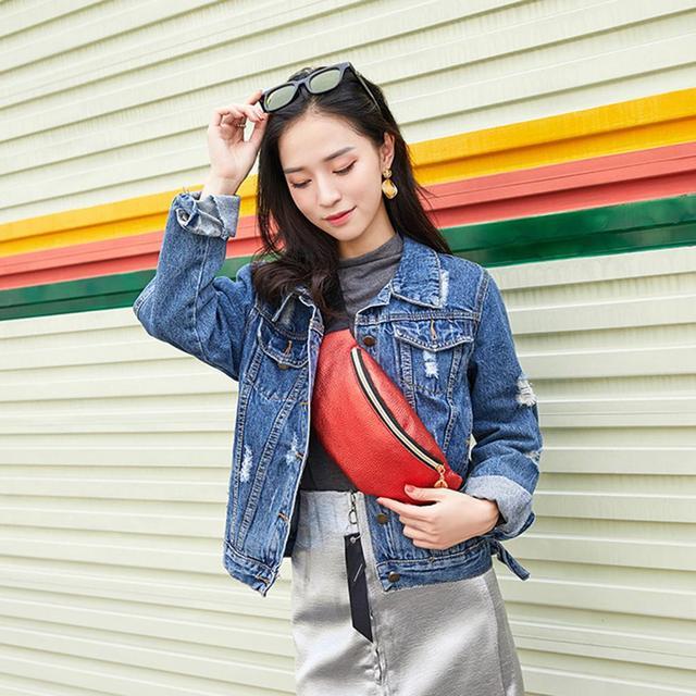 PinShang женская спортивная уличная Сумка для бега на талии модная нежная текстура сумка для мобильного телефона сумка через плечо