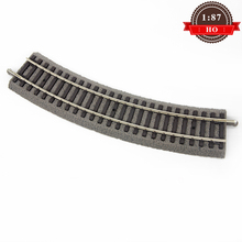 1:87 Scale Ho Train Model R1 With Subgrade Curved Track 55411  30 Orbit New Arrival ho scale model railway 1 87 scale train riders standard track roller test stand with 6 trolleys train treadmill track bearing