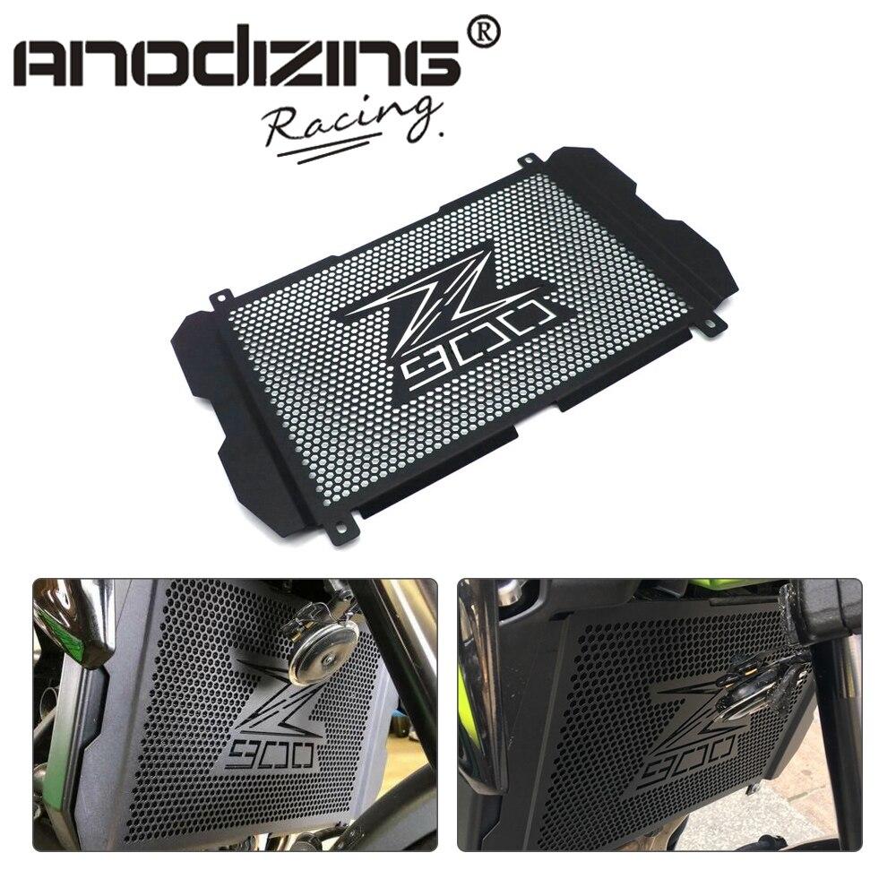 Acessórios da motocicleta de Proteção Em Aço Inoxidável Grade de Radiador Guarda Capa Protetor Para Kawasaki Z900 2017 2018 2019