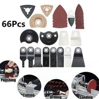 DOERSUPP 66PCS Oscillating Multitool Saw Blade Kit Set For FEIN Makita Multi Tool