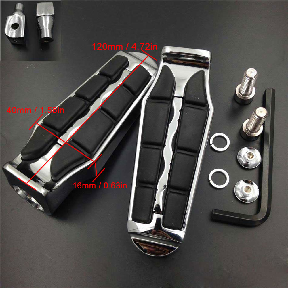 Large Front Foot Peg For 2011 2015 12 13 Yamaha Stryker XVS1300 2014 2015 Bolt Models XVS950 footpeg Rest pedal Billet Rubber in Foot Rests from Automobiles Motorcycles