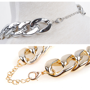 Image 5 - Small Dog Snack Chain Teddy French Bulldog Necklace Silvery/Golden Pet Accessories Dogs Collar