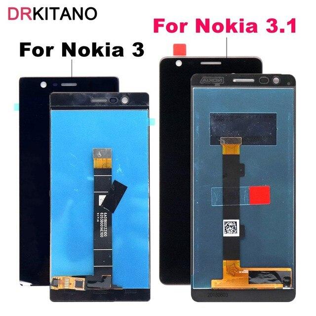 """עבור Nokia 3 LCD תצוגת מסך מגע Digitizer TA 1020 1028 1032 1038 עבור Nokia 3.1 LCD מסך ת""""א 1049 1057 1063 1070 1074"""